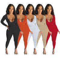 Tasarımcı Eşofman Kadın U Boyun Örgü Uzun Kollu İki Parçalı Pantolon Setleri Katı Renk Elastik Moda Kazak Yoga Takım Rahat T Shirt Pantolon İnce Kıyafetler
