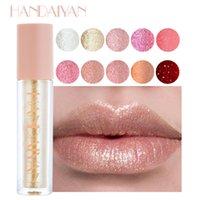 HANDAIYAN LIPS Maquillaje 10 colores Espejo Espejo Libro de cristal Brillo Hidratante Luz Hidratante Gel Sin Shimmer Sticky Lipstick Lipstick Lipgross