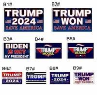 24h Ship 3 * 5 ft Trump ha vinto bandiera 2024 Bandiere elettorali Donald the Mogul Salva America 150 * 90cm Banner DHL Spedizione CY27