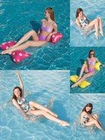 DHL 플로팅 침대 수영장 물 해먹 라운지 의자 여름 풍선 접이식 이중 목적 등받이 행 오락 안락한 소파 도매 XZ01