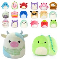 25cm SquishMallow Dolls Plush Toy Stuffed Animals Cushion Twenty Styles Gummy Colorful Doll Crola Cat Pig Bee Dinosaur Soft Pillow Christma