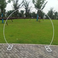 Party Decoration Round Ring Shape Metal Iron Arch Wedding Backdrop Stand Birthday Decor Artificial Flower Balloon Frame Baby Shower