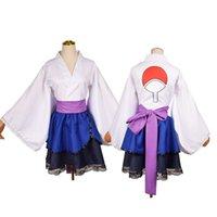 Erwachsener japanisch Kimono Cosplay Kostüm Akatsuki Cloud Print Uchiha Sasuke Lolita Kostüme Kleid Frauen Mädchen Halloween