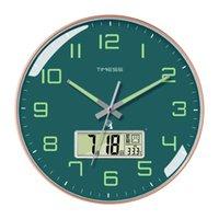 أزياء كوارتز ساعة الحائط مضيئة صامتة غرفة المعيشة التصميم الحديث الإلكترونية الذكية reloj pared ديكور المنزل SG50WC1 ساعات