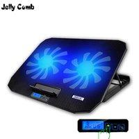 젤리 빗 게임 쿨러 조정 가능한 속도 2 USB 포트 및 2 팬 노트북 냉각 패드 노트북 스탠드 12-17 인치