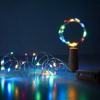 Wine Bottle Lights with Cork, LED Strings Cork Shape Silver Wire Colorful Fairy Mini String Light for DIY, Party, Decor, Christmas, Halloween,Wedding(Warm White) CRESTECH