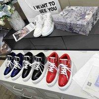 Dames D-Player Sneakers Schoenen Rode Gewatteerde Nylon Fashion Veelzijdige Hoge en Lage Schoen Originele Verpakking 35-46 Topkwaliteit met doos gemaakt in Italië