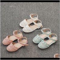 Детка, родильная доставка по материнству 2021 Bekamille детей для девочек детские сандалии летние мягкие нижние туфли срезанные ретро жемчужное цветочное дыхание