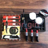 Brand 6pcs set Makeup Sets Matte Lipstick Mascara Liquid Eyeliner Cushion BB Cream Christmas Nice Gift Girl Cosmetic Kits With fast ship