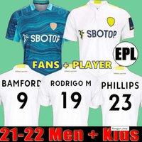 21 22 Leeds Soccer Jersey United 2021 2022 Phillips Firpo Junior Bamford Raphinha Diego Llorente Rodrigo Chemise de football Thaïlande