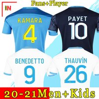 20 21 Olympique de Marsiglia Soccer Jerseys 2021 OM Cucina Maillot de Foot Cuisisk Benedetto Kamara Camicia calcio Thauvin Payet