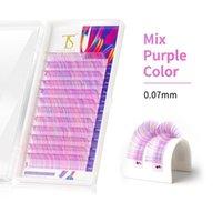 D curl 0.07 0,10 Rainbow Farbe Wimpernwanderung Erweiterung Ombre 3D Mink Natürliche Cilias Einzelne falsche Wimpern