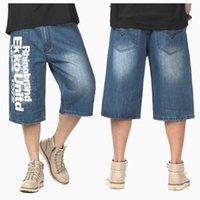 Talla grande para hombre pantalones de longitud de becerro casual azul negro denim pantalones cortos hombres jeans verano jean hip hop shorts