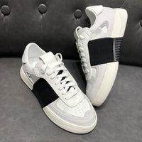 2021 الأحذية عارضة أزياء الرجال النساء المفتوحة مصمم أحذية رياضية شريطية جلد طبيعي منصة مسطحة الأحذية 35-45 Q-49