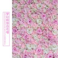 ارتفع الاصطناعي 40x60 سنتيمتر مخصصة الألوان الحرير روز زهرة الجدار الزفاف الديكور خلفية زهرة الاصطناعية جدار رومانسية EEA1587 524 R2