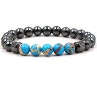 8mm Noir Stone Hematite Bracelets en pierre naturelle Tigereye turquoise perlée Bouddha bracelets pour femmes hommes cadeau