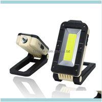 휴대용 및 캠핑 하이킹 스포츠 옥외용 휴대용 초 롱 충전식 COB LED 검사 작업 빛 자기 접이식 비상 토치