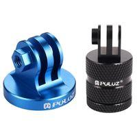 Stative Puluz für Go Pro-Zubehör-Camcorder-Stativ-Mount-Adapter (blau) mit 360-Grad-Rotationsverbindungshalter