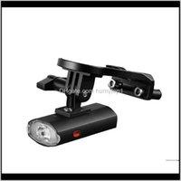 Огни 300LM водонепроницаемый USB аккумуляторный аккумулятор передний держатель велосипеда боковая лампа 6 режимов света безопасность велосипедов инструмент SXG4Y GXB2O