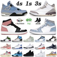 retro 1 1 s 4 4s off white With Box 2021 농구화 4 4s White Oreo University Blue Jumpman 1 1s Hyper Royal Shadow TWIST Mens Women Trainers Sneakers 36-47