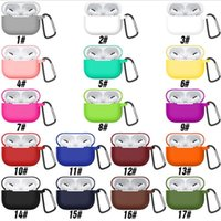 Colorful Soft TPU Wireless Bluetooth Headphones Cases For Airpods Pro Silicone Earphone Cover Air pods 2 3 tws q32 Headset Protective Case