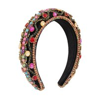 European and American headband women, palace style, retro fashion, claw chain accessories, thick sponge exaggerated resin accessories