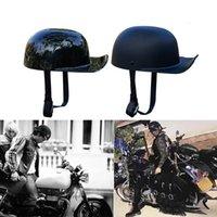 Black Fashion Adult Open Face Half Helmet Moto Vintage Motorcycle Motorbike Biker Riding Crash Scooter,Cruiser,Chopper Helmets