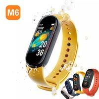M6 Smart Armband Uhr Fitness Tracker Herzfrequenz Blutdruckmessgerät Farbbildschirm IP67 Wasserdicht für Mobiltelefon