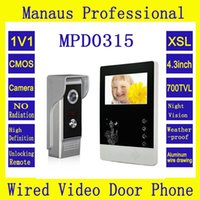 Selling Professional Smart Home 4.3inch Screen Video Intercom Phone Outdoor Waterproof Camera Infrared Night Vision D315 Door Phones