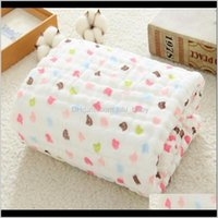 Quilts Muslin Blankets Swaddling 100 Cotton Swaddle Wrap For Born Babies 6 Layer Bath Towel Blanket Baby Bedding Lj200819 1Amdq Ri3H0