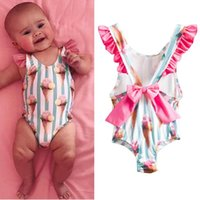One-Pieces Infant Baby Girls Bow Tie Backless One-Piece Swimsuit Beachwear Bathing Suits Swimwear 1 To 4 Years Toddler Girl Holiday Wear