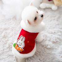 Ve Kış Sıcak Sonbahar Yastıklı Köpek Kedi İki Bacaklı Küçük Tavşan Pamuk Yelek Pet Giysileri