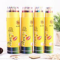 6Fni creative cartoon case case children's environmental protection pencil barrel long rod color painting primary school painting pens stud