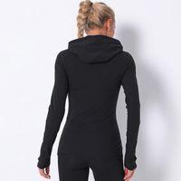 EST إمرأة الرياضة سترات اليوغا مع جيب activewear هوديي معطف لينة ملابس سستة