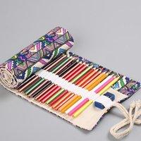 Pencil Cases Bohemia Makeup Brushes Bag Roll Case For Art Office Estuches Escolares Box Kids