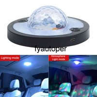 Disco Magic Stage Effect Lights Voice Control Rhythm Atmosphere Light Roof Magnet Ceiling Lamp LED Car Interior Reading Light
