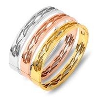 Bangle Titanium Steel Bracelet Rose Gold Clasp Stainless Jewelry Ladies Bracelets Accessories