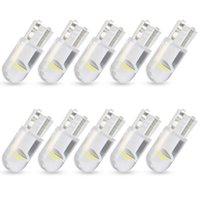 Carro 12 V 6000K Gelo Branco Lâmpada de Carro de Carro de Carro 10 PCS W5W LED T10 Car Espiga de Luz de Vidro Auto Auto Dome Leia DRL Bulbo Universal