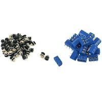 Smart Power Pluggs Topplöpning 20 st 3 pin 5 mm PCB PCB-skruvplint 50 Plugg DC-022 5.5-2.1mm Hålgängad mutterpanelmontering
