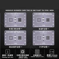 Em 1 CPU BGA Reballing Stencil para A7 A8 A9 A10 A10 Alta Precisão Estanho Malha de Malha de Malha de Malha 0.12mm Ferramentas de Reparação de Telefone Celular