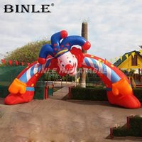 Outdoor attractive advertising event inflatable clown arch cartoon archway for sale welcome entrance archways carnival party