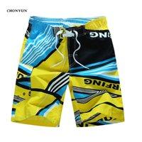 Chegada Plus Size Swimwear Summer Men's Beach Shorts Rápidos-seca Ao Ar Livre Swim Trunks Bermudas Masculino