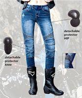 Jeans rectos apretados de las mujeres Uglybros con plumas Pantalones de protección de motocicletas Racing Road Riding1