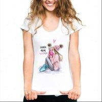 Maycaur Harajuku Mama Super Mom Women Tops Mothers Love Print White Vogue Summer Femme Tees Shirts