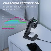 Cell Phone Mounts & Holders 5W Fast Charge 3 In 1 Wireless Charger Stand For SmartWatch Dock X3UD