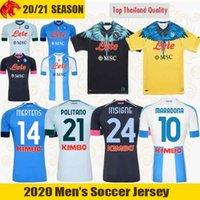 20 21 Napoli Soccer Jerseys Insigne 2021 Zielinski Politano Mertens Maradona Football Shirt Lozano 4th Jersey Osimhen Fabian مجموعة خاصة