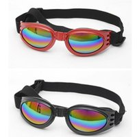 Dog Apparel Pet Adjustable UV Sunglasses Black Eye-wear Costume Foldable Sun-resistant Goggles Grooming Product Pos Props Accessories