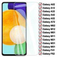 Protecteurs d'écran de téléphone portable de 9D pour Samsung Galaxy A02 A12 A32 A42 A52 A72 F41 F62 M02 M12 M01 M11 M21 M31 M51