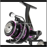 Sports & Outdoors Drop Delivery 2021 Dk1000-6000 Spinning Reel Cnc Aluminum Spool Fishing 10Kg Max Drag 4Dot7:1 5Dot0:1 Gear Ratio Freshwater