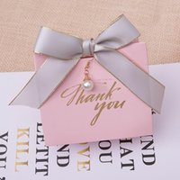 Gift Wrap 50pcs Lot Unique Pink Marble Baby Shower Candy Box Anniversary Engagement Chocolate Container Wedding Favor Boxes Wholesale
